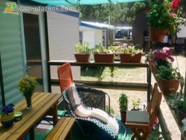 Horvátország. Összközműves, klímás, wifis Mobil Home házak eladók. Dalmacija Camp Privlaka.