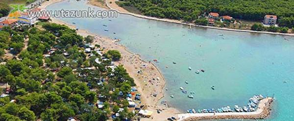 Horvátország, Dalmacija Camp Privlaka, klímás, wifis mobilházak, lakókocsik kiadók.