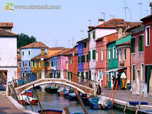 Burano: az élénk színű házak és a csipke otthona