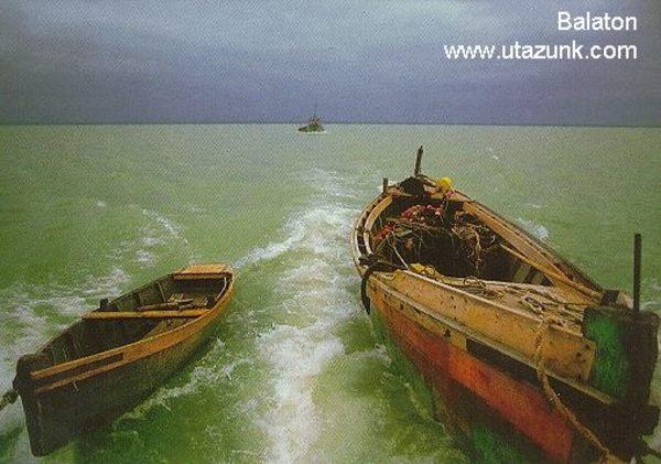 Balatoni látkép hajóról