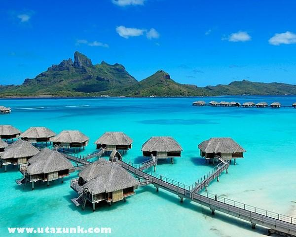 Bérelhetõ kunyhók Bora Bora szigetén