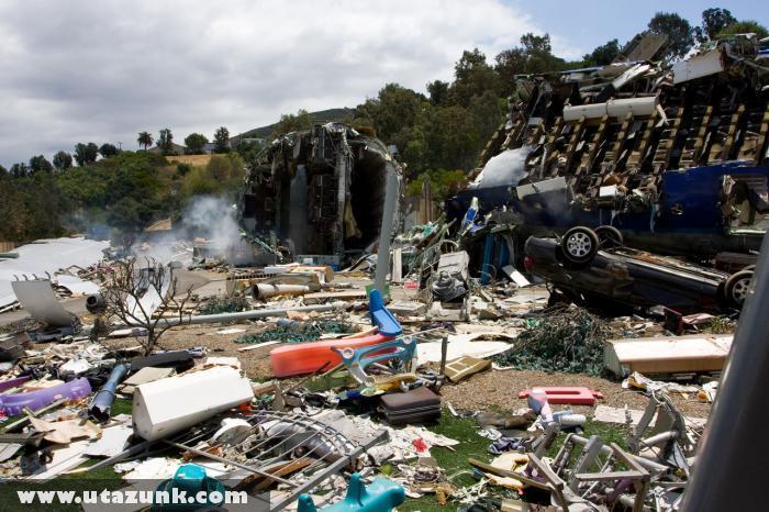 Katasztrófa helyszín a Paramount filmstúdióban
