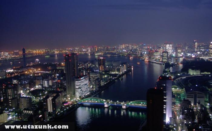 Tokió éjszakai fényei
