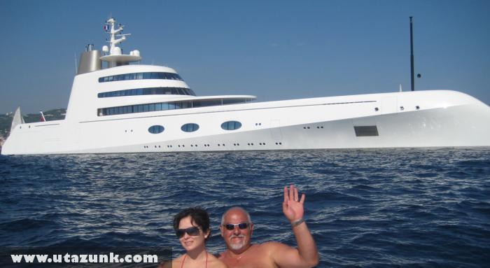 Mega Yacht a francia partoknál