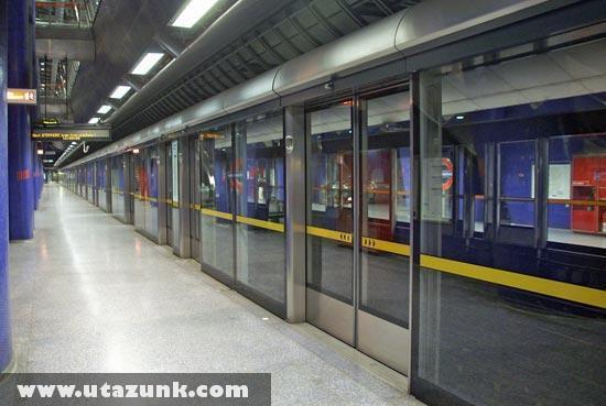 Robbanásbiztos fal a londoni metróban