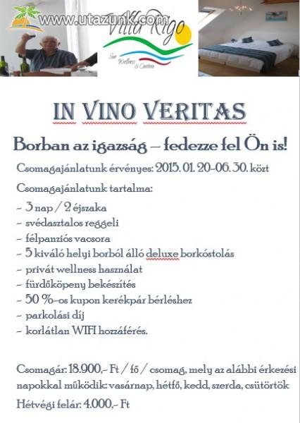 Boros kalandozások a Villában - Villa Rigo Panzió, Verpelét