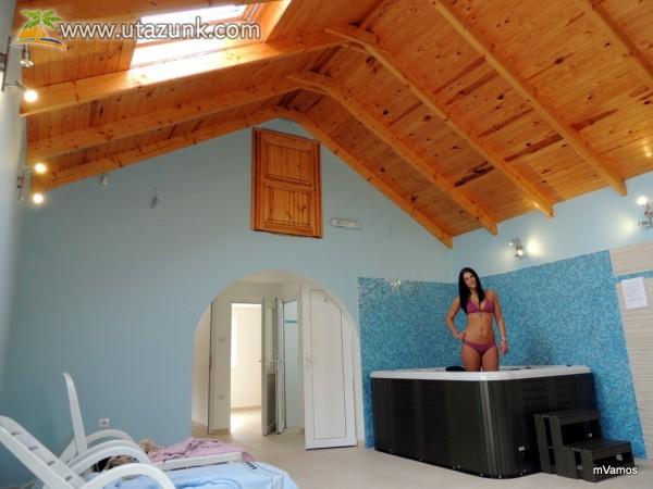 Villa Rigo Panzió jacuzzi - a méreganyagok távozásának serkentésére