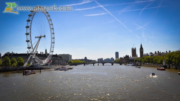 London Eye a Temze parton