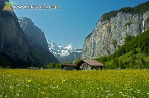 Svájci menedékház a völgyben