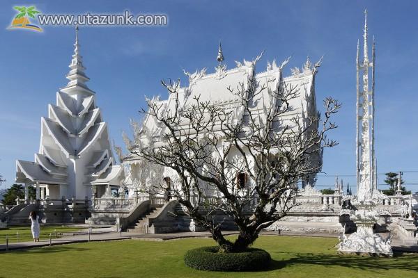 Wat Rong Khun Buddhista templom Tájföldön