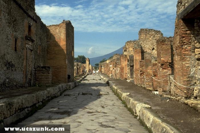 Pompej egyik utcája