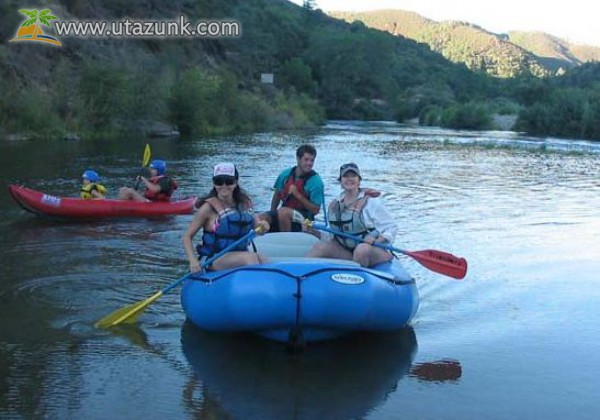 Rafting a folyón