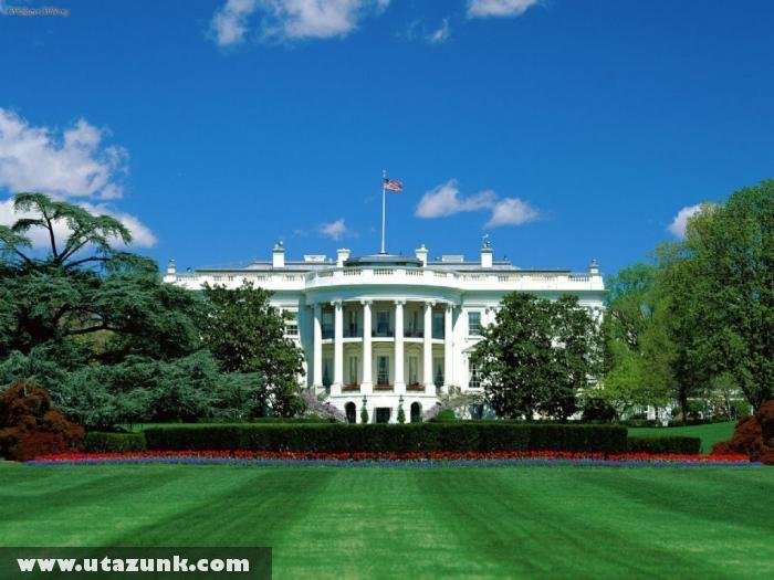 A Fehér Ház az udvarból