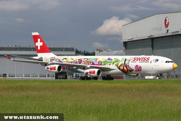 Swiss Air: Vicces festéssel