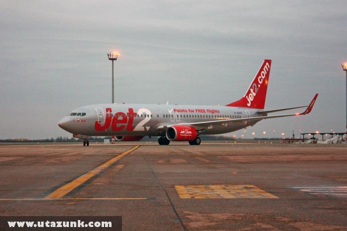 A Jet2.com gépe Ferihegyen