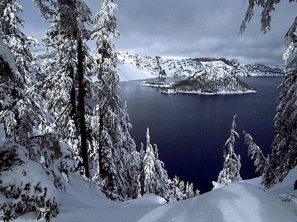 Egy tó télen