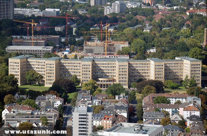 Wolfgang Goethe Egyetem legnagyobb épülete Frankfurtban