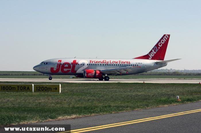 A Jet2 gépe Budapesten