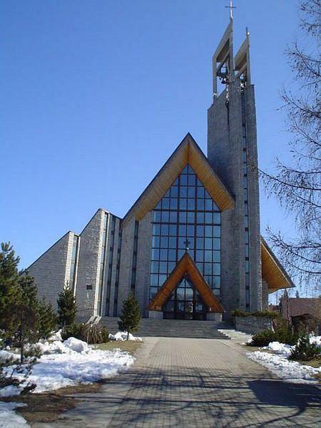 Egy modern templom Zakopaneban