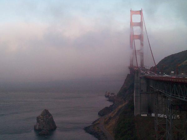 Ködben a Golden Gate