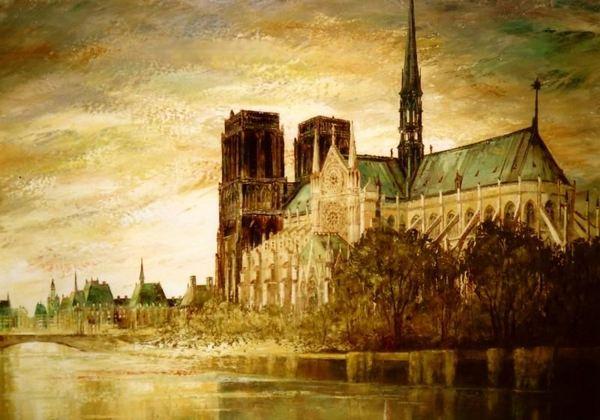 A Párizsi Notre Dame (zöld harmónia)