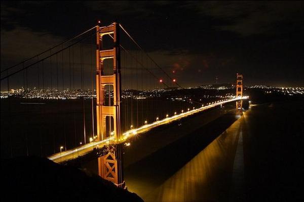 Golden Gate híd esti fényében