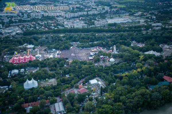 Óbuda, Sziget Fesztivál 2014 fentről ilyen