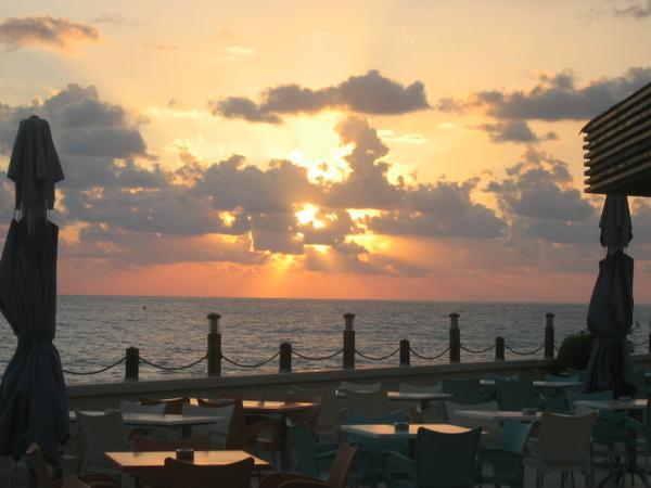 Naplemente a Földközi-tengeren