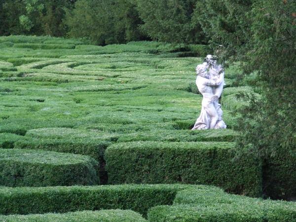 Tiszadob buxus-labirintus