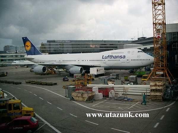 Jumbo Jet Frankfurtban