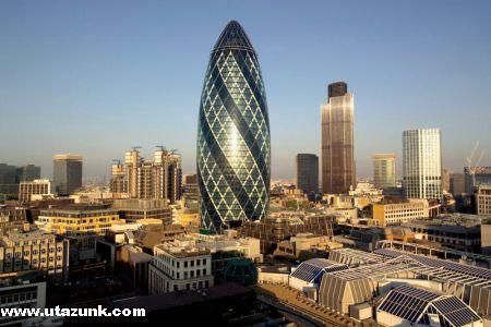 Az üzleti negyed Londonban