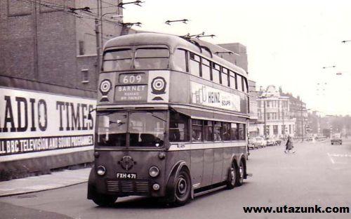 Londoni emeltes busz 1950-bõl!