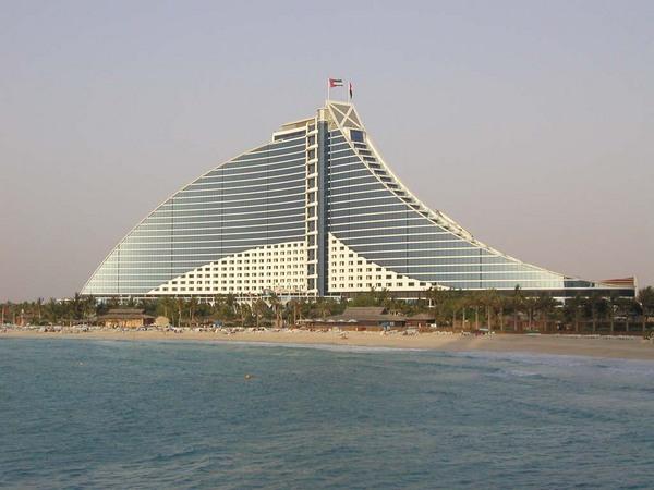Dubai tengerparti látvány.