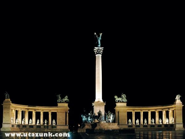 Budapesten a Hõsök tere