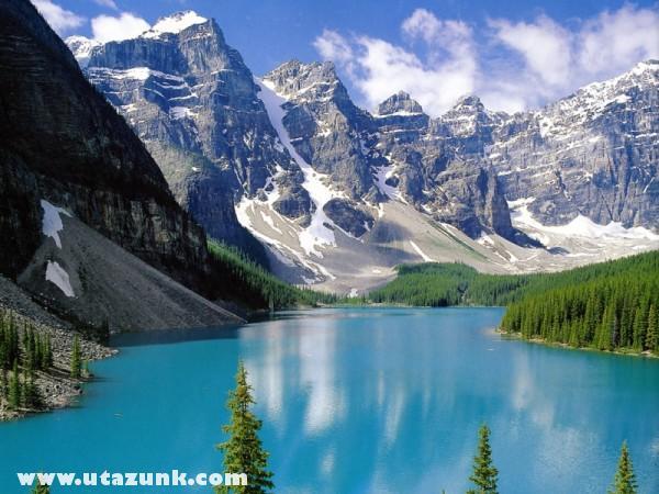 Canadai hegy, egy tóval