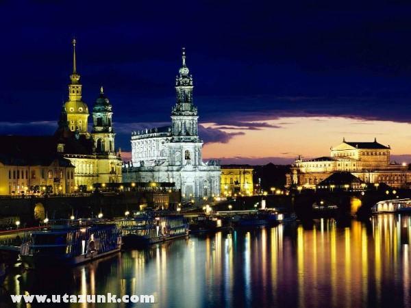 Elbe River, Dresden, Németország