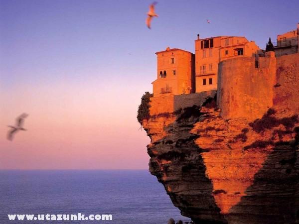 Fortress at Bonifacio Corsica, Franciaország