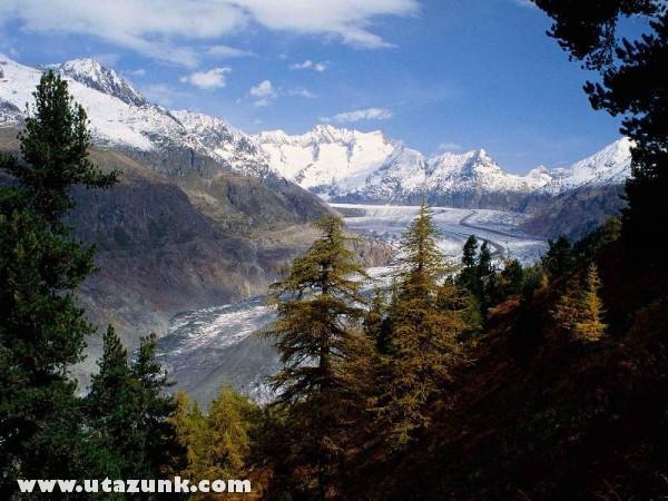 Grosser Aletsch Glacier, Svájc