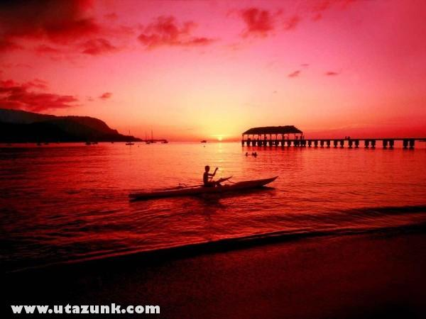 Hanalei Kayaker, Kauai, Hawaii