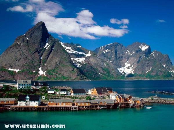 Sakrisoy, Lofoten Islands, Norvégia
