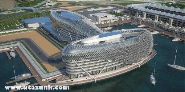 Abu Dhabi - Forma1 pálya és jackt kikötõ
