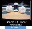 Gyertyafényes vacsora - amerikai módra... ez nem a Villa Rigo stílusa